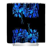 Abstract In Blue 2 Shower Curtain