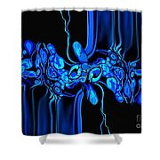 Abstract In Blue 3 Shower Curtain