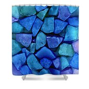 Abstract In Glass Shower Curtain