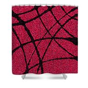 Abstract In Red And Black Shower Curtain
