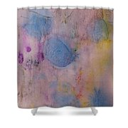 Abstract In Red, Blue, And Yellow Shower Curtain