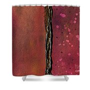 Abstract In Rose And Copper Shower Curtain