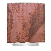 Abstract In Rust Shower Curtain