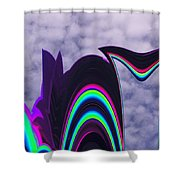 Abstract In The Clouds Shower Curtain