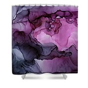 Abstract Ink Painting Plum Pink Ethereal Shower Curtain