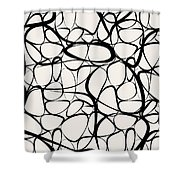 Abstract Interlacing Shower Curtain