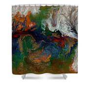 Abstract Ix Wr Shower Curtain