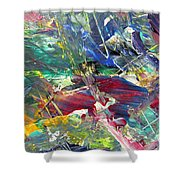 Abstract Jungle 10 Shower Curtain by Anita Burgermeister