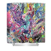 Abstract Jungle 11 Shower Curtain by Anita Burgermeister