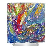 Abstract Jungle 12 Shower Curtain by Anita Burgermeister