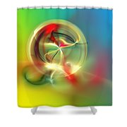Abstract Karma Wheel Shower Curtain
