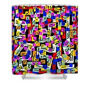 Abstract Laberinto 2 Shower Curtain