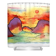 Abstract Landscape 006 Shower Curtain