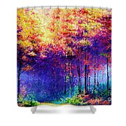 Abstract Landscape 0830a Shower Curtain