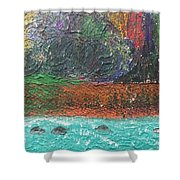 Abstract Landscape 15-oo Shower Curtain