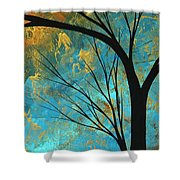 Abstract Landscape Art Passing Beauty 3 Of 5 Shower Curtain by Megan Duncanson