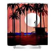 Abstract Landscape Beach Art 3 - By Diana Van Shower Curtain