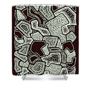 Abstract Landscape - Hand Drawn Pattern Shower Curtain
