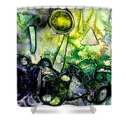 Abstract Landscape IIi Shower Curtain
