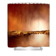 Abstract Landscape Reflection Shower Curtain
