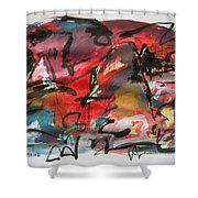 Abstract Landscape Sketch13 Shower Curtain