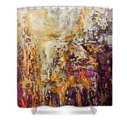 abstract landscape VI Shower Curtain