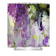 Abstract Lavender Cascades Shower Curtain