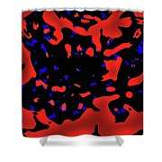 Abstract Lemon Tree Leaves Shower Curtain