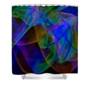 Abstract Light Trails Shower Curtain