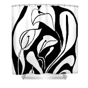 Abstract Lilies Shower Curtain
