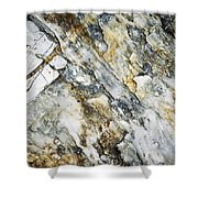 Abstract Limestone And Silica Texture Shower Curtain