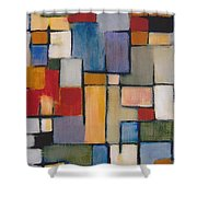 Abstract Line Series  Shower Curtain