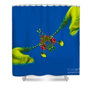 Abstract Lobster 9137205141 Shower Curtain