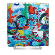 Abstract Love Shower Curtain