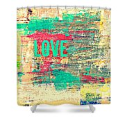 Abstract Love V2 Shower Curtain