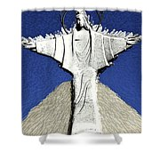 Abstract Lutheran Cross 5a Shower Curtain