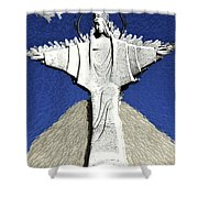 Abstract Lutheran Cross 5a1 Shower Curtain