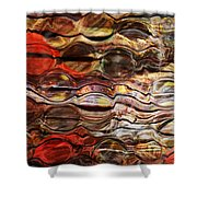Abstract Magnified Lines Shower Curtain