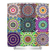 Abstract Mandala Collage Shower Curtain