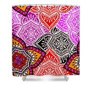 Abstract Mandala Floral Design Shower Curtain