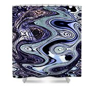 Abstract Marble Shower Curtain