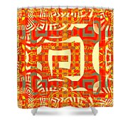 Abstract Maze Shower Curtain