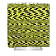 Abstract Metal Plate Shower Curtain