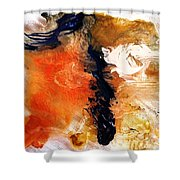 Abstract Metal Wall Art, Print On Aluminum, Original Oil Painting Shower Curtain