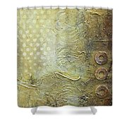 Abstract Modern Art Earth Tones Shower Curtain