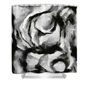 Abstract Monochome 150 Shower Curtain
