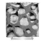 Abstract Monochome 152 Shower Curtain