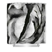 Abstract Monochome 154 Shower Curtain
