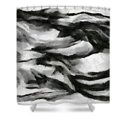 Abstract Monochome 162 Shower Curtain