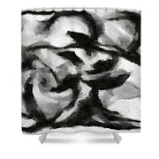 Abstract Monochome 164 Shower Curtain
